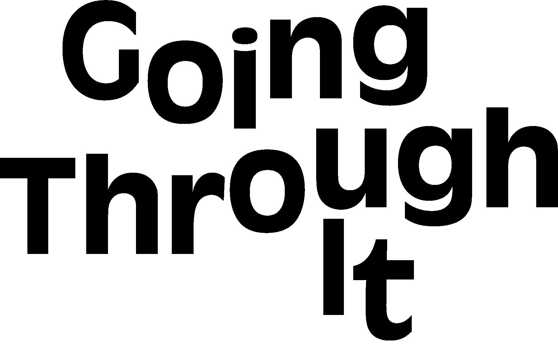 Going Through It  logo