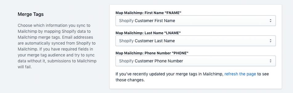 ShopSync - Match Merge Tags