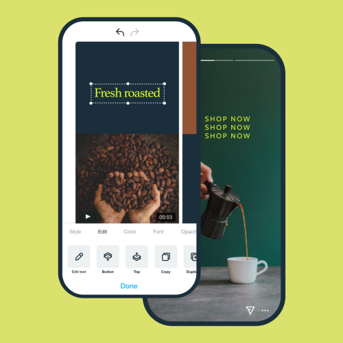 Vimeo create new video content mobile