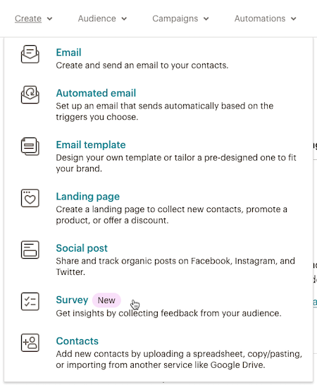 El cursor hace clic - Encuesta - Crear desplegable