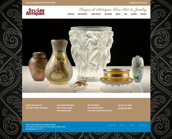 Image of vases for Syl-Lee Antiques