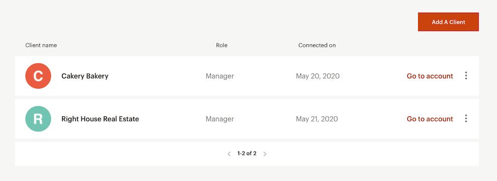 Mailchimp & Co Client Page