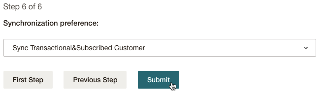 Mailchimp for Shopware - Synchronization preference
