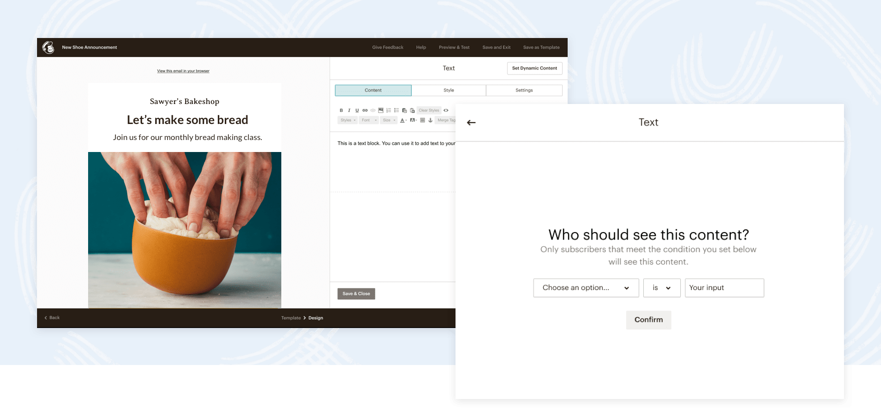 A look at Mailchimp's Dynamic Content tools