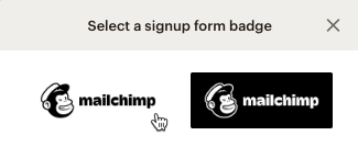 select referral badge signup form