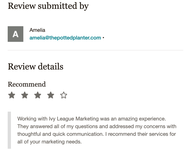 Ivy League Marketing Review