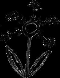 Illustration of flower made of flowers