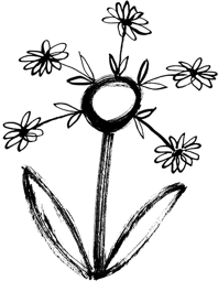 Illustration of flower made of flowers