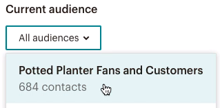 Select an audience