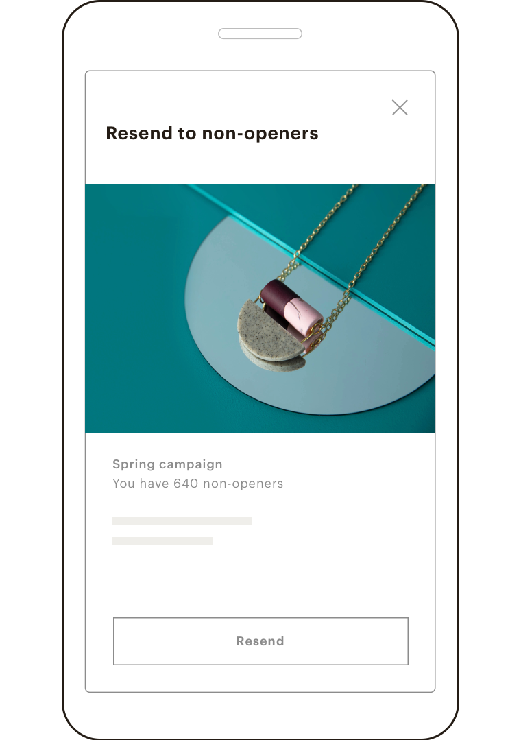 The option to resend an email to non-openers from the mobile app.