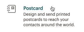 Cursor Clicks - Postcard - Create Campaign