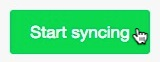 Cursor hovers over the Start syncing button.