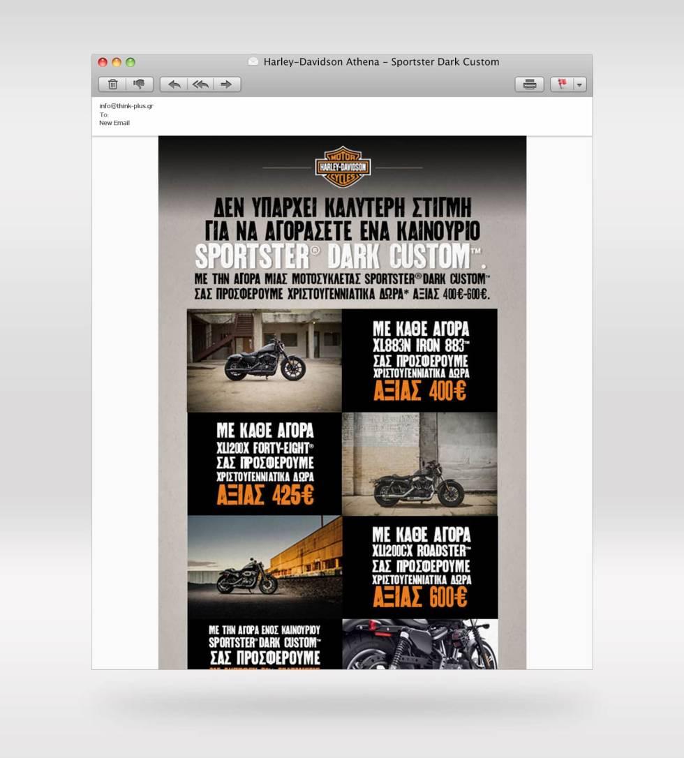 Image of a Harley Davidson website