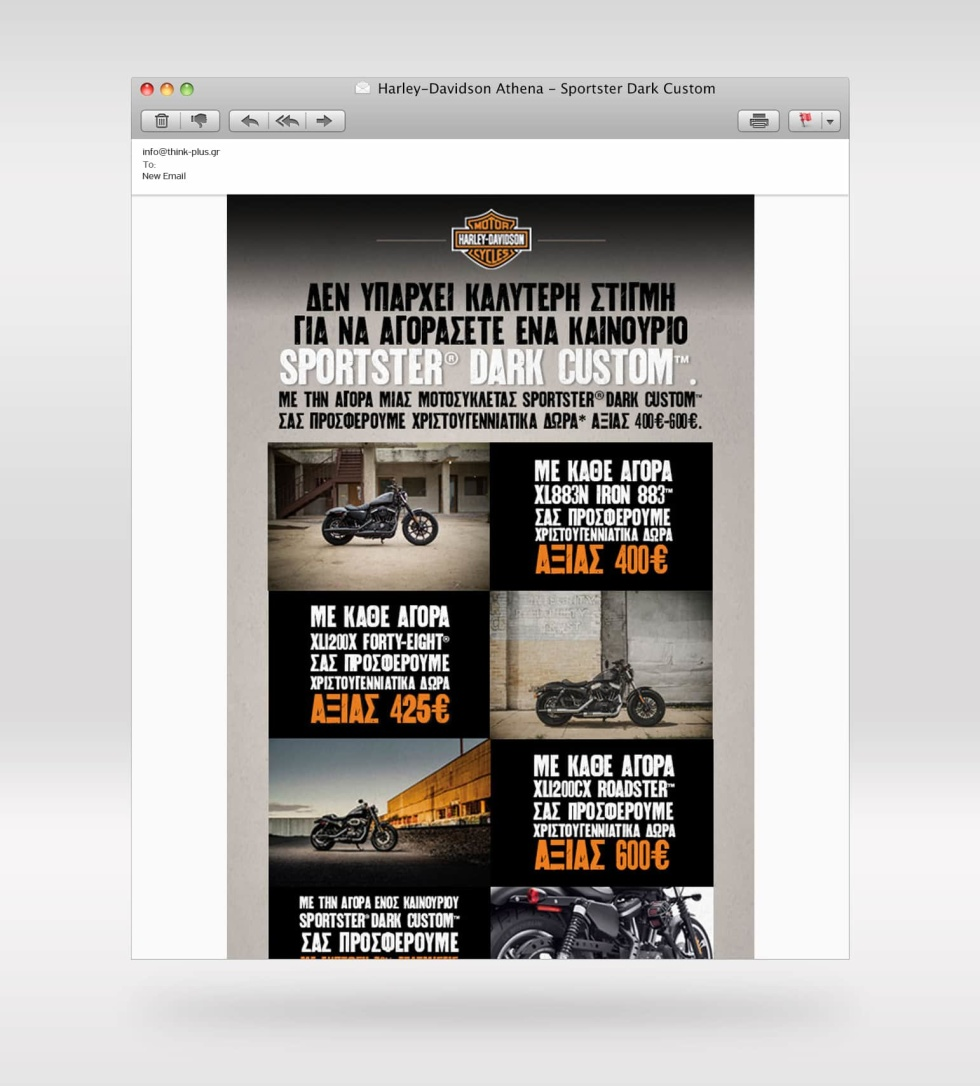 Image of a Harley Davidson website