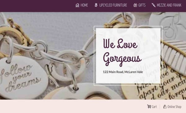 Image of website banner that says We love gorgeous