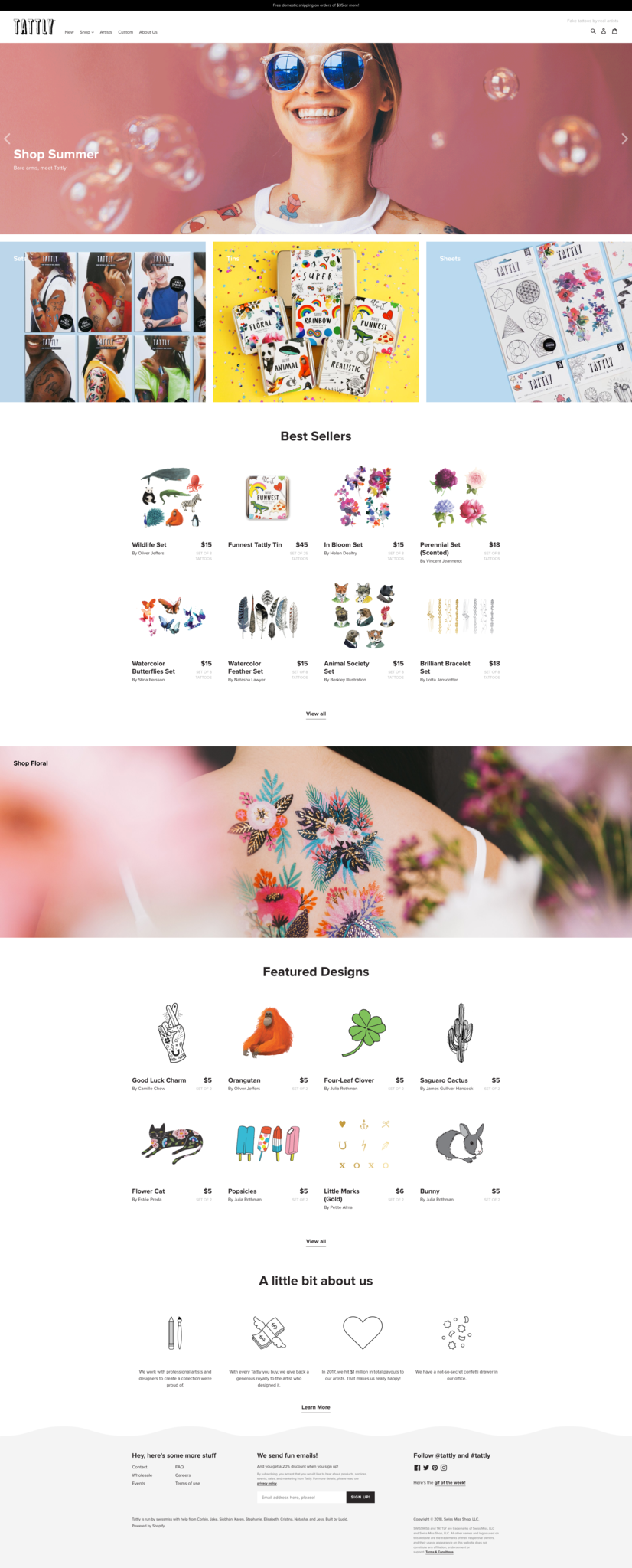 Image of Tattly's website