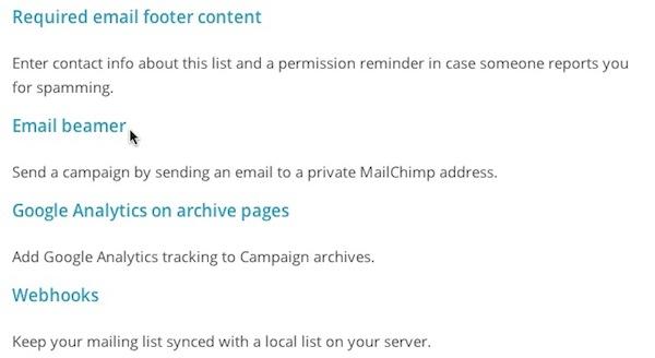 email beamer