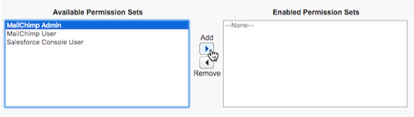Cursor clicks add to edit permission sets.