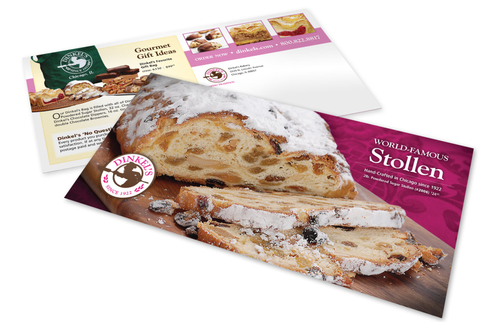 Image of postcards with an advertisement for bread