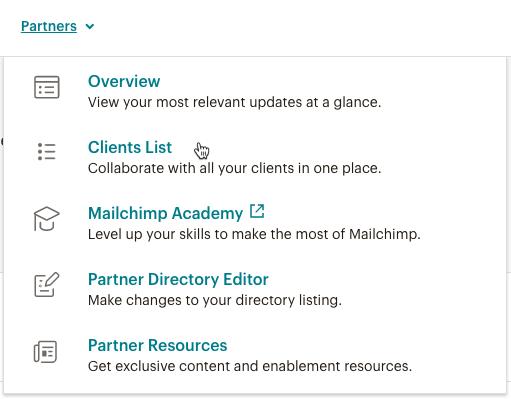 Cursor Clicks - Clients List - Partners tab