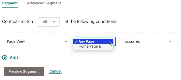 web engagement 2nd dropdown