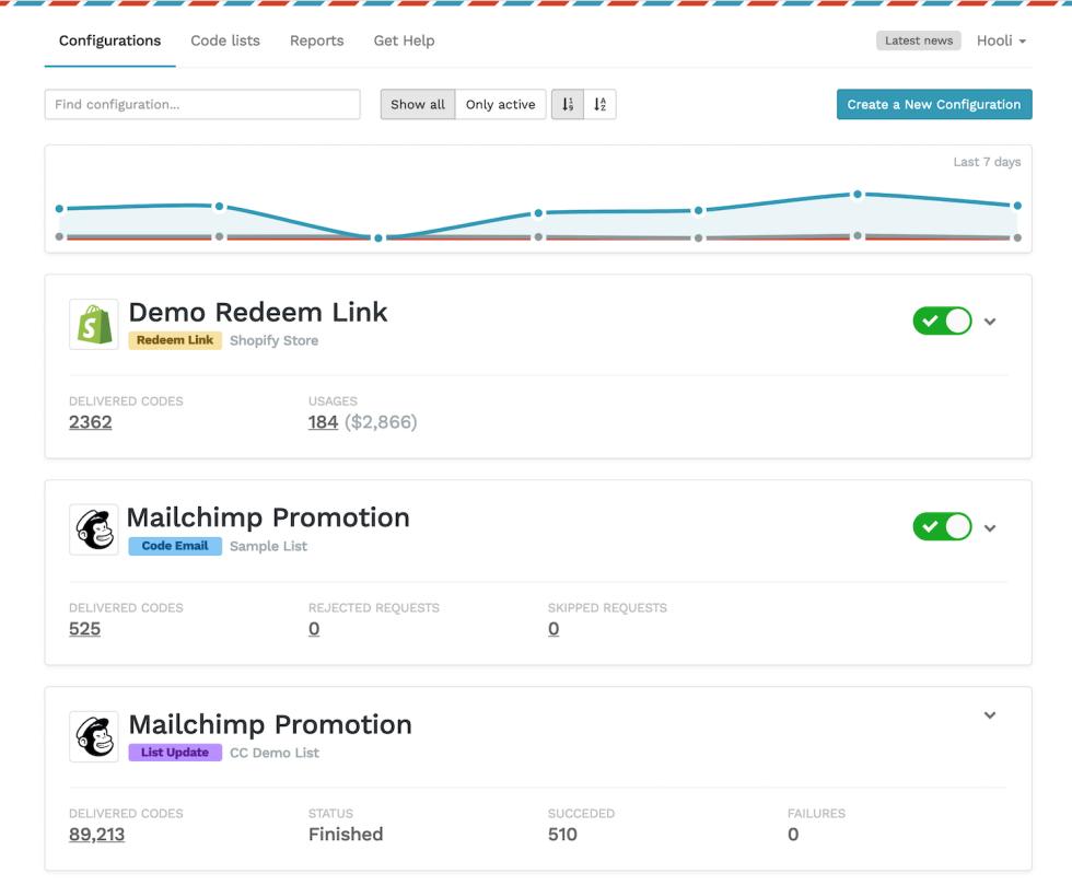 Image of Mailchimp Promotion options