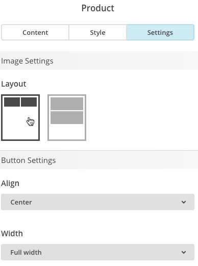 Screenshot of Settings tab.