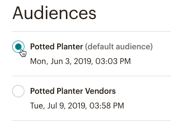Cursor Clicks - Potted Planter - Mobile SDK Audience2