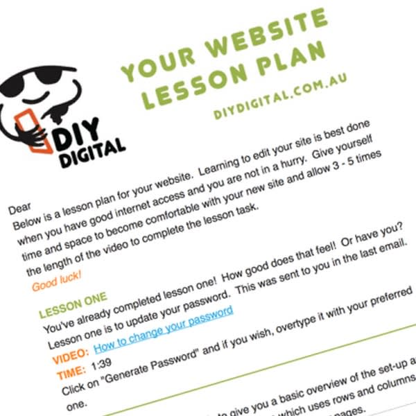 Image of text that says Your Website Plan