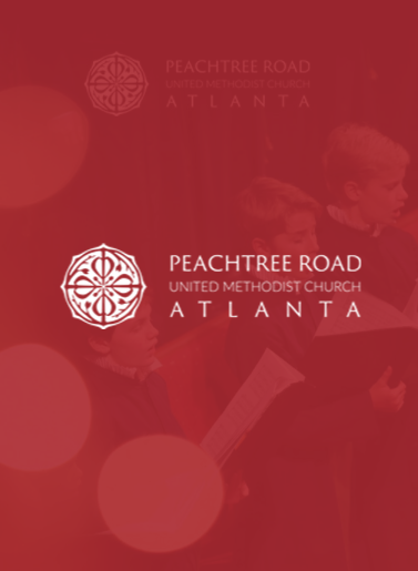 Image of Peachtree Road United Methodist Church Atlanta logo on red background