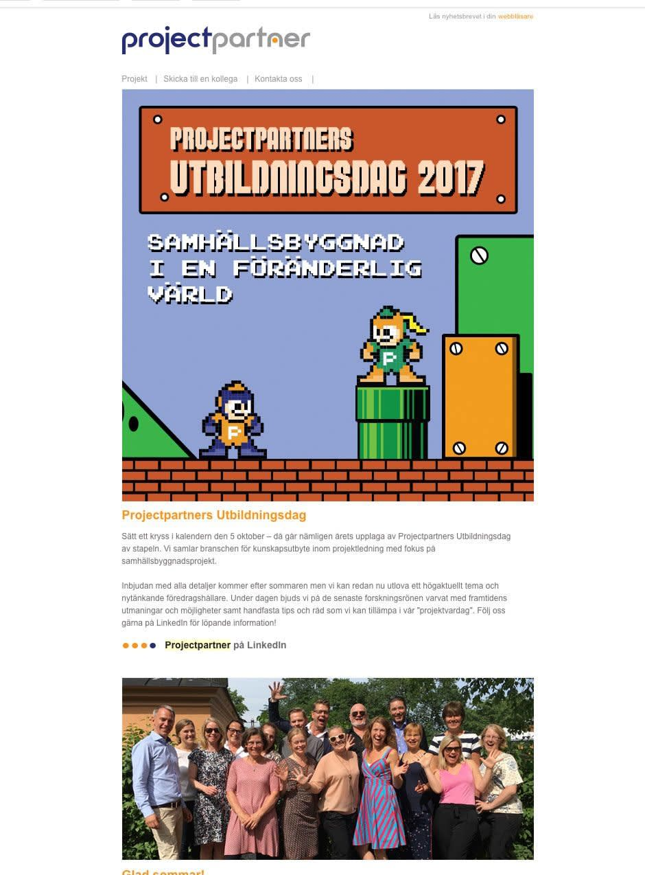 Image of Project Partners newsletter