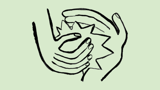 Two hands high fiving