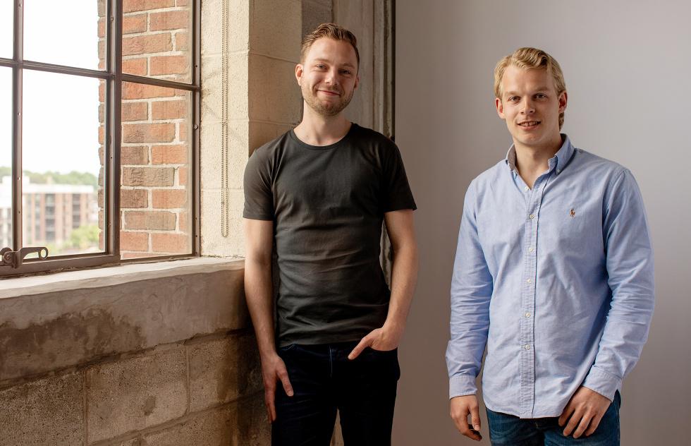 Photograph featuring Sander Bosch and Bart Wegink of Invest Online.