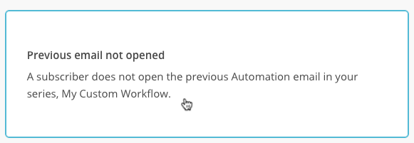 automation trigger previous email not opened