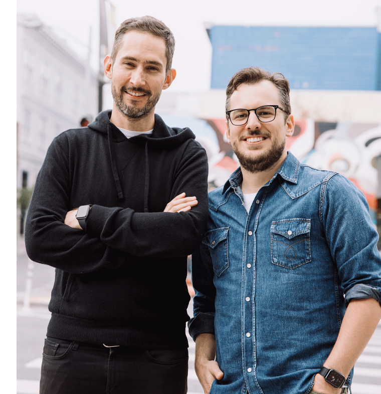 Instagram co-founders Kevin Systrom and Mike Krieger