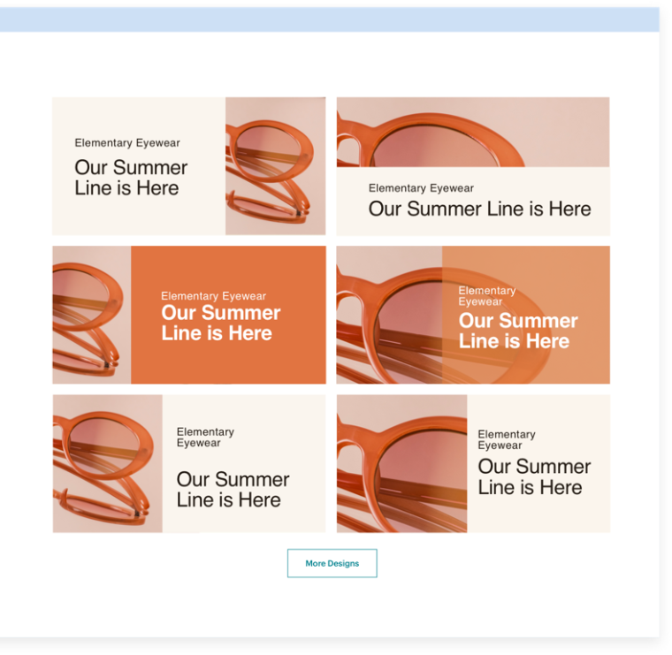 An example of Mailchimp's Creative Assistant