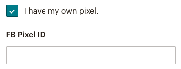 Ajouter l'ID du pixel Facebook.