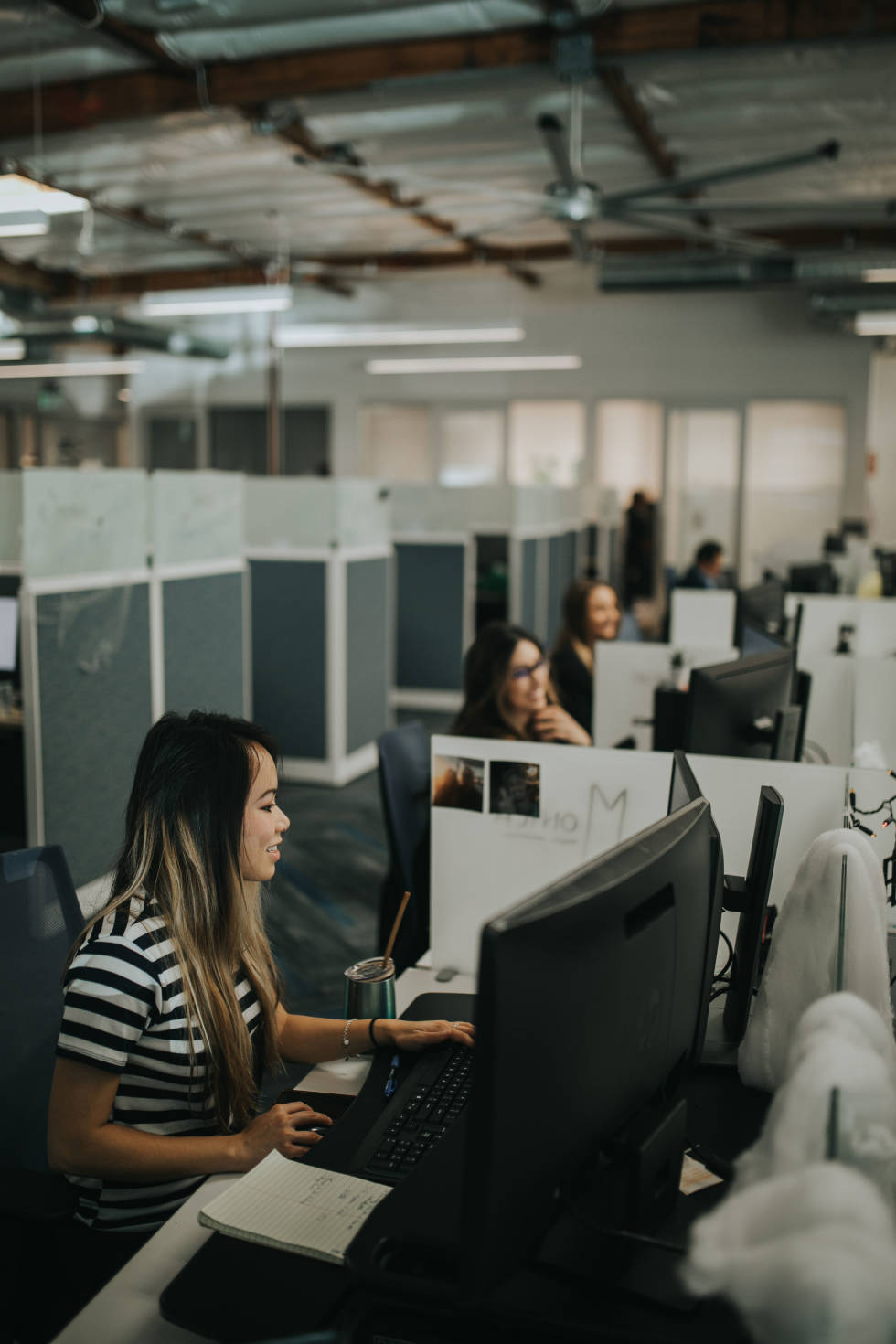 Image of people in cubicles