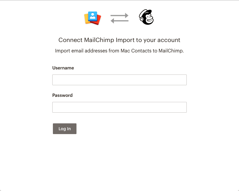 Mailchimp-import-login