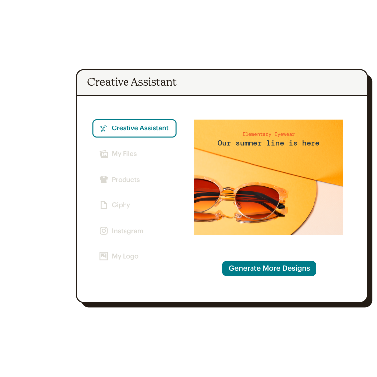 Smart Recs Creative Assistant Abstract UI Elementary Eyewear Static
