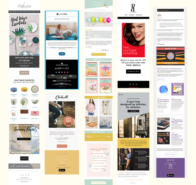 Image of many newsletter samples