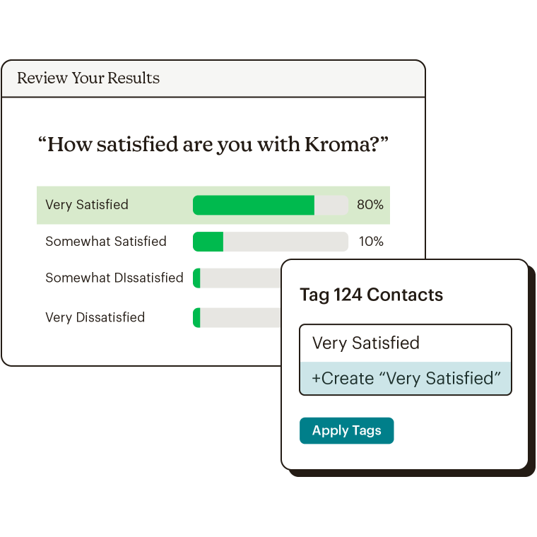 Creating tags based on survey results.