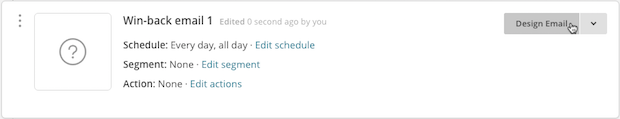 Cursor click on Design Email