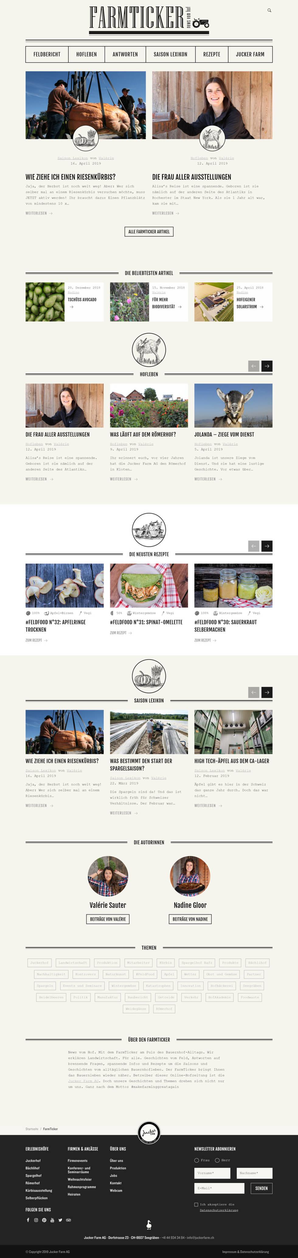 Image of Jucker Farm Website