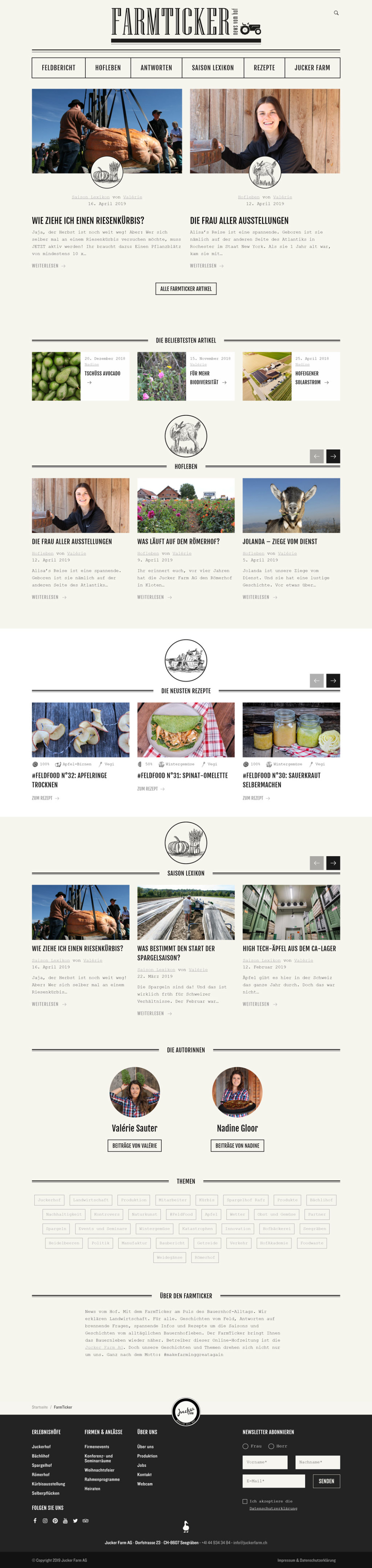 Image of Jucker Farm Website