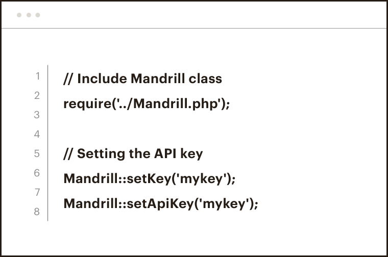An example of some Mandrill API code