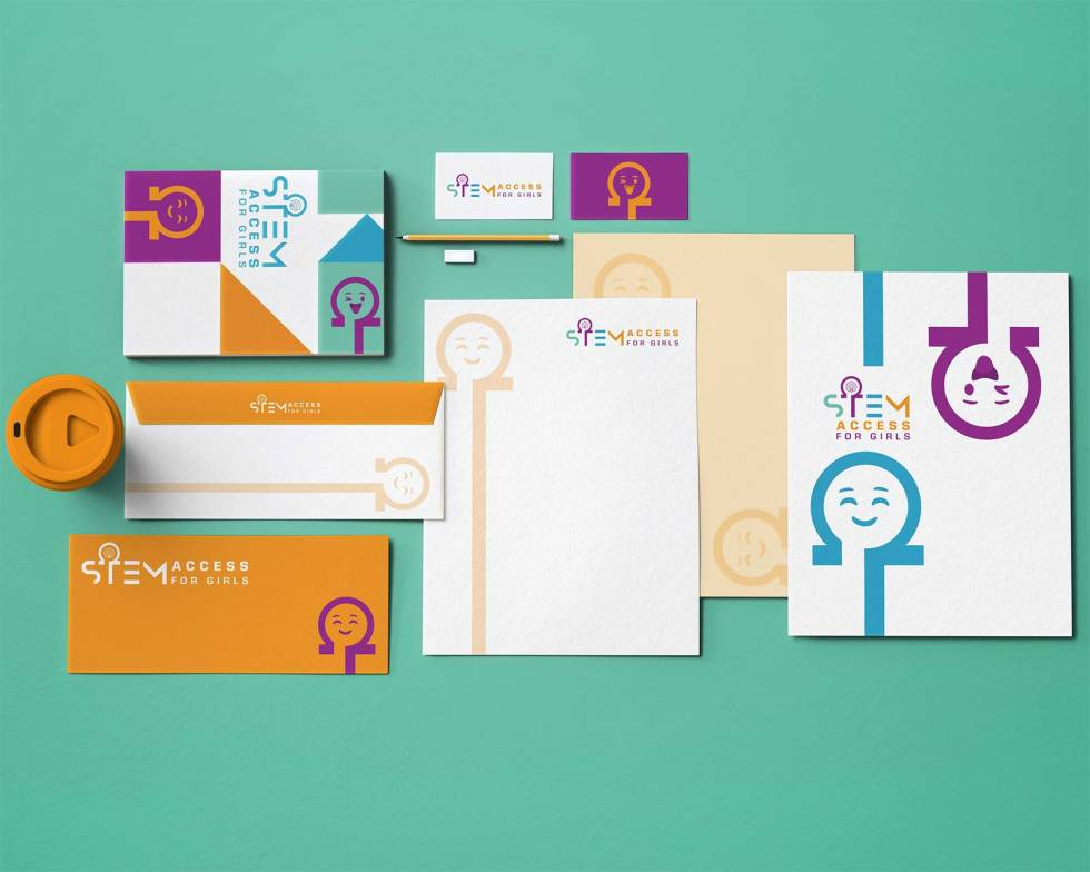 Examples of different branding for organization.