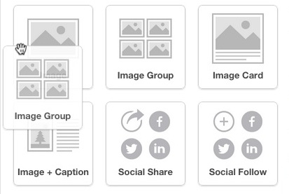 Click and drag Image Group into layout