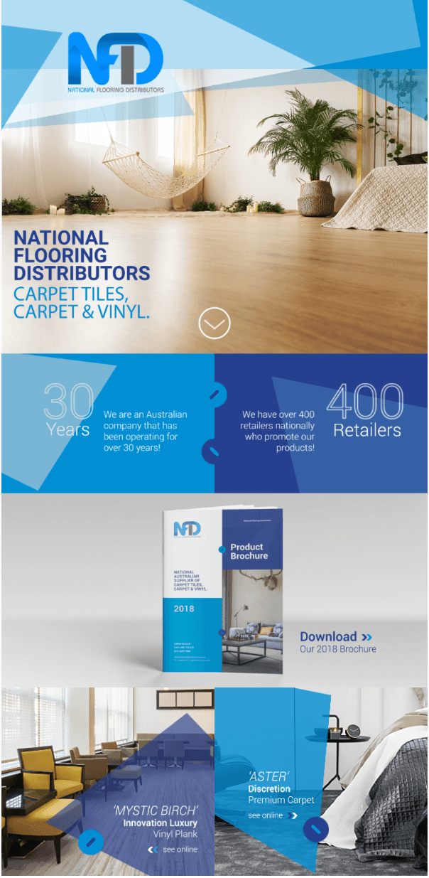 Image of brochure for flooring