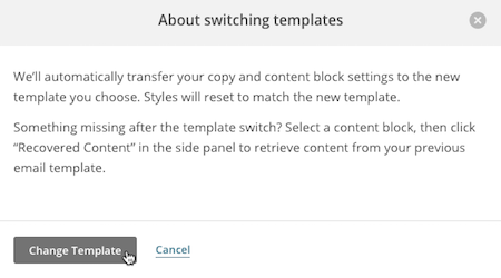 Switch Templates In The Campaign Builder